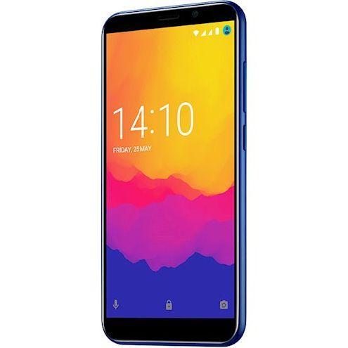 Безрамочный смартфон на 2 сим карты 5 дюймов 4 ядра 1/8Gb Prestigio Wize Q3 синий