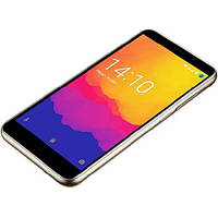 Безрамочный смартфон на 2 сим карты 5 дюймов 4 ядра 1/8Gb Prestigio Wize Q3 золотой
