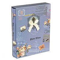 Фотоальбом с магнитными страницами Ключ к воспоминаниям,  синий цвет (0287J/B)