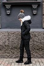 """Женский дутый зимний костюм """"CANADA"""" с карманами и капюшоном, фото 2"""