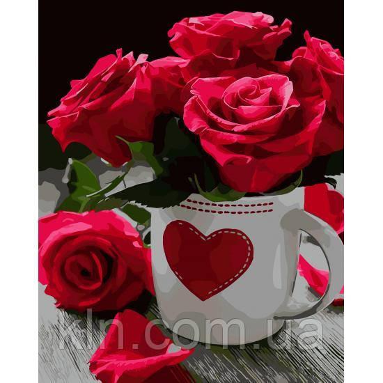 Картина по номерам ArtStory Яркие розы 40 х 50 см (арт. AS0020)