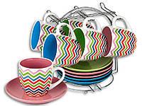 """Сервиз чайный  12 предметов EL-2143 на подставке """"Elina"""""""