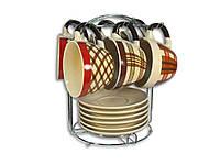 """Сервиз чайный 12 предметов EL-2131 на подставке """"Elina"""""""