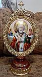 Элитная писаная икона Святого Николая Чудотворца (Николай Чудотворец), фото 3