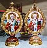 Элитная писаная икона Святого Николая Чудотворца (Николай Чудотворец), фото 7