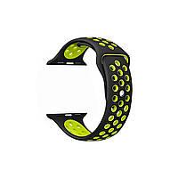 Браслет для Apple Watch ремешок желтый Nike спортивный силиконовый перфорированный ремешок Nike 42 mm желтый