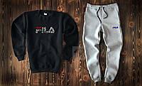 Теплый мужской спортивный костюм Fila интернет-магазин, фото 1