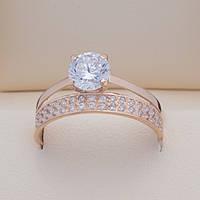 Золотое кольцо с фианитом. КП1695