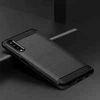 TPU чехол накладка для Samsung A750 Galaxy A7 2018 (Черный), фото 1