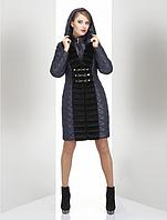 Молодежно зимнее женское пальто Nui Very с мехом