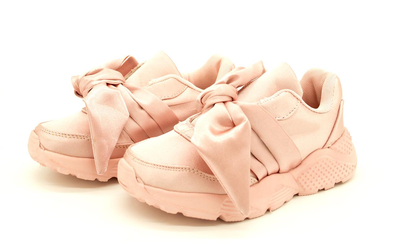 Кроссовки с бантиком для девочки, размеры: 32-19,5см, 33-20,5см, 34-21см