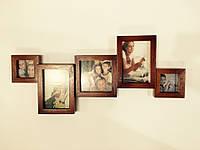 Фотоколлаж, мультирамка  фоторамка на 5 фото дерево