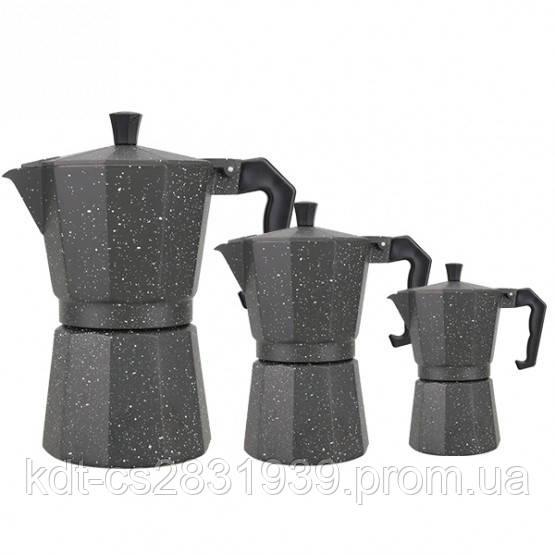Гейзерна кавоварка алюміній на 9 чашки