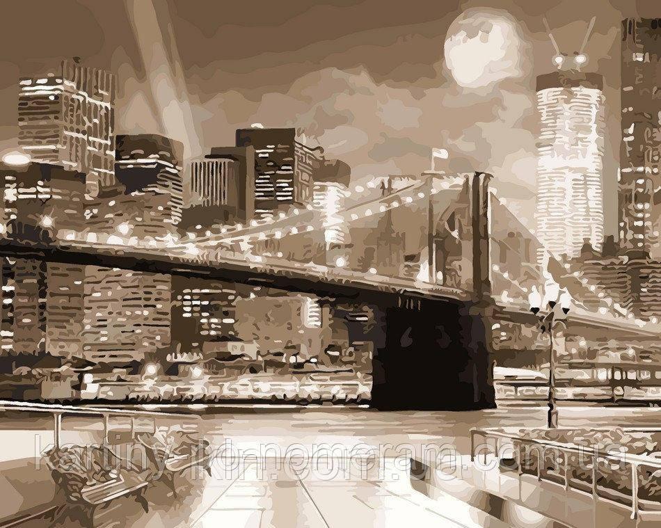 Картина по номерам ArtStory Ночной город в огнях 40 х 50 см (арт. AS0078)
