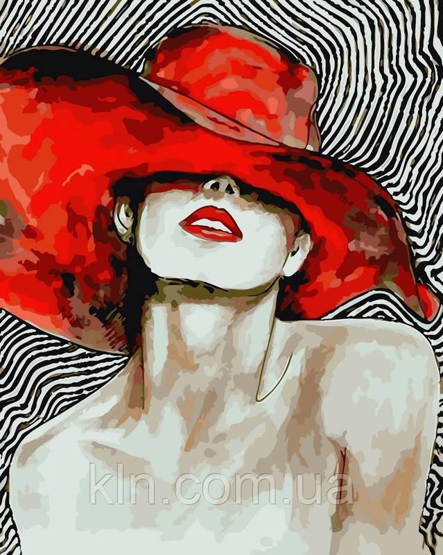 Картина по номерам ArtStory Мадам в шляпе 40 х 50 см (арт. AS0082)