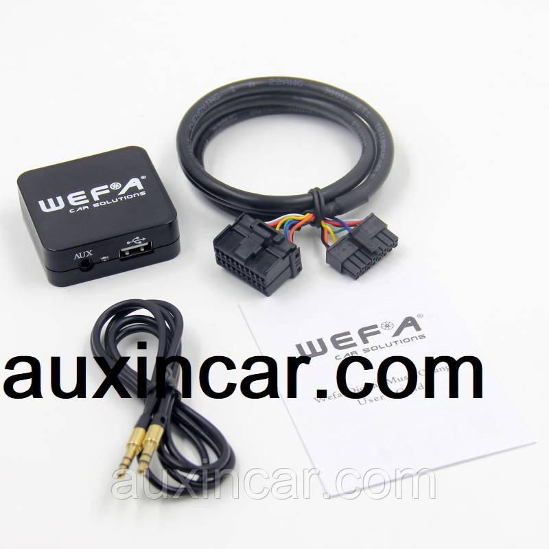 MP3 FLAC Usb sd card aux эмулятор cd чейнджера WEFA для Subaru с магнитолой Kenwood