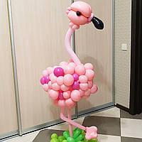 Композиция из шаров Фламинго, высота 1,2 м