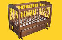 кроватка-манеж Каприз с качалкой 60х120 ТИС 960х720х1270мм