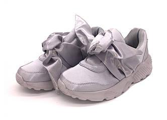 Кроссовки с бантиком для девочки, размеры: 35, 36