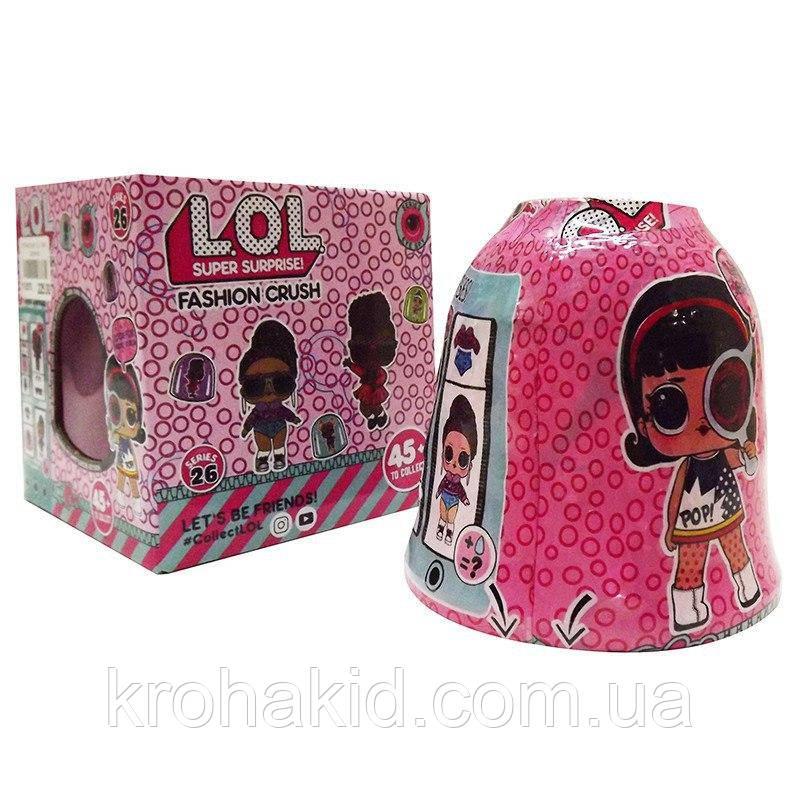 Кукла Лол Колокольчик /L.O.L. Surprise Eye Spy Fashion Crush/ Секретные месседжи/  аналог