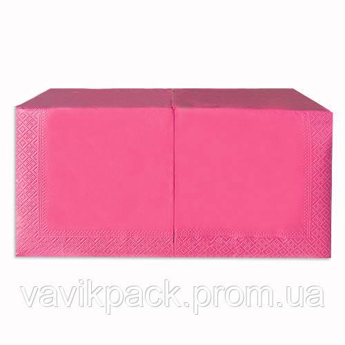 """Салфетка  """"Alsupak'  33 х 33 cм 200 шт (Розовая) двухслойная"""