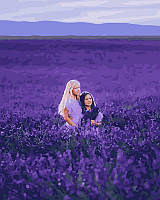 Картина по номерам Дети в лавандовом поле, 40х50 см, премиум упаковка