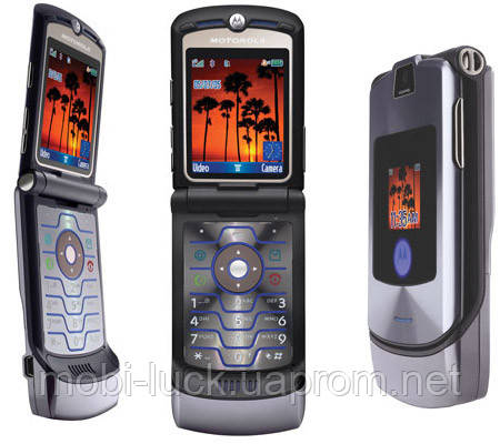 Телефон раскладушка Motorola RAZR V3   1 сим,2,25 дюйма, 680 мА\ч. Металл!