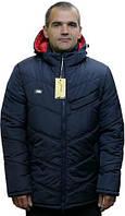 Куртка-пуховик зимняя мужская на силиконе «Ник» (от 48 по 62) (Красная, синяя, черная)