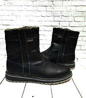eaecd94d8 Ботинки мужские сапоги зимние кожаные черные коричневые 0528УКМ