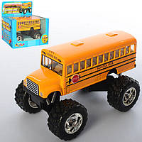Автобус KS 5108 W (24шт) металл, инер-й, 13см, резин.кол,открыв. двери,амортиз,в кор-ке,15-13,5-9см