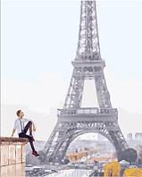 Картина для рисования по номерам Он в ожидании Парижа, 40x50 см, премиум упаковка, Brushme (Брашми) (PGX25407)