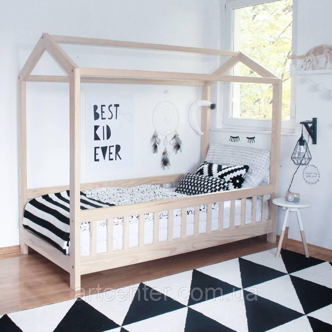 Кроватка-домик на ножках, натуральный массив ясеня, ЭКО кроватка