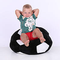 Детское Кресло Zolushka мяч маленькое 60см черно-белое (4153)