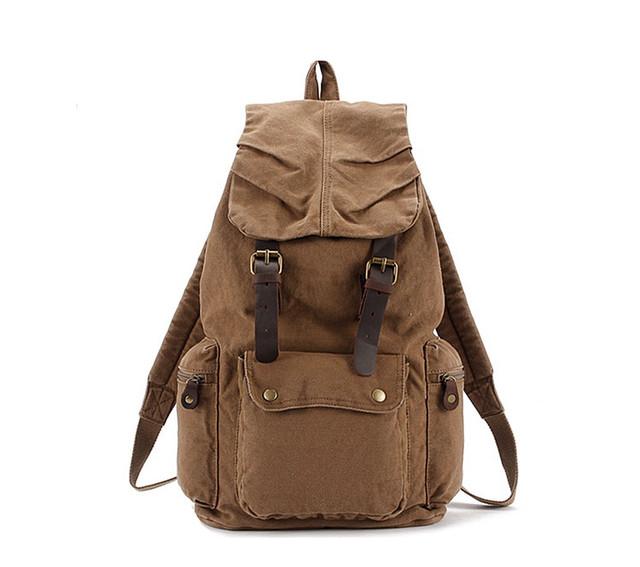 Коричневый рюкзак вид спереди