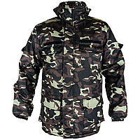 Мужская прямая зимняя куртка с капюшоном Дубок/бутан