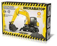 Деревянный 3Д конструктор Экскаватор 216 деталей (286224)