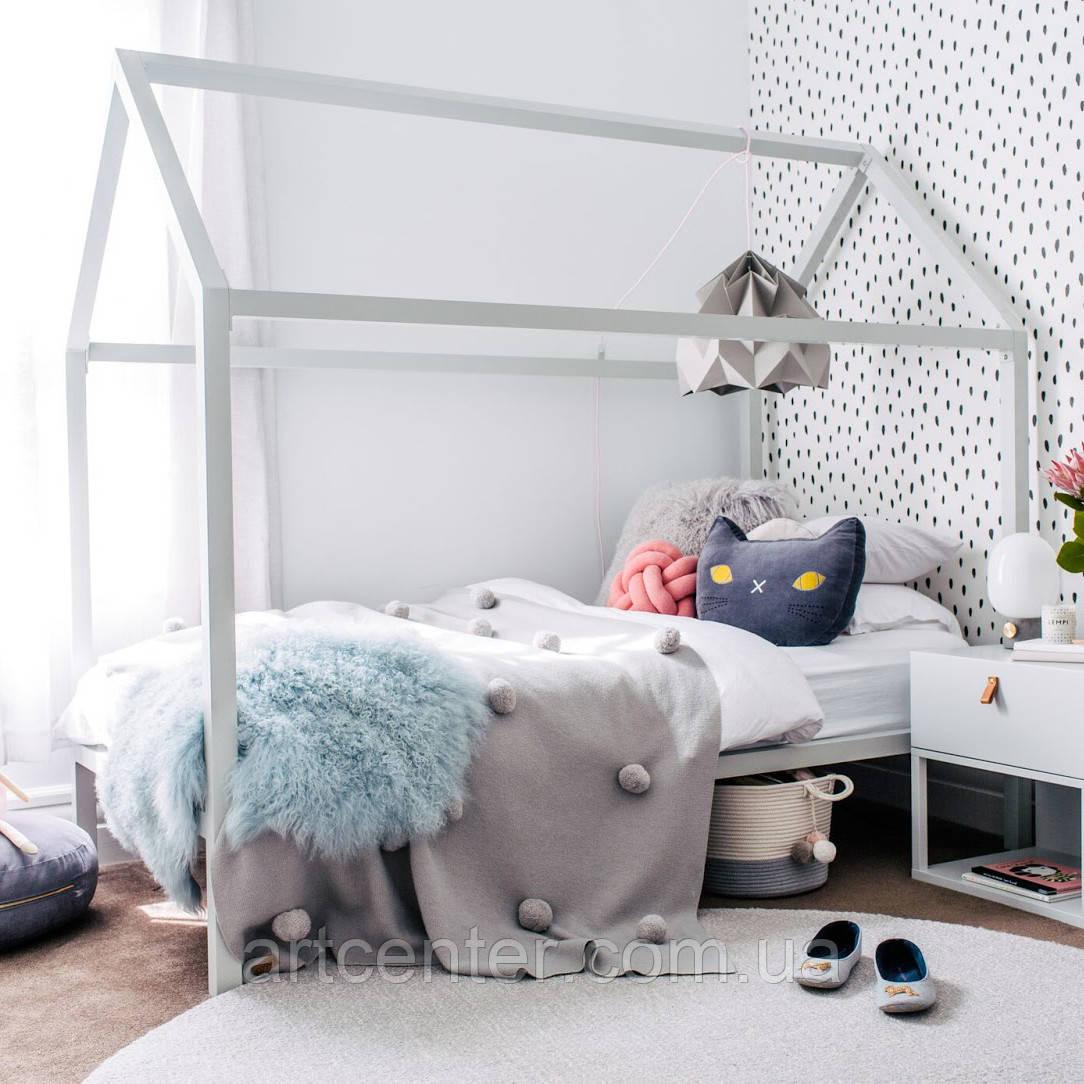 Кроватка-домик на ножках, кроватка для девочки, белая