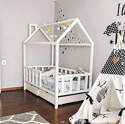 Кровать детская с ящиками Topovik Белая С1