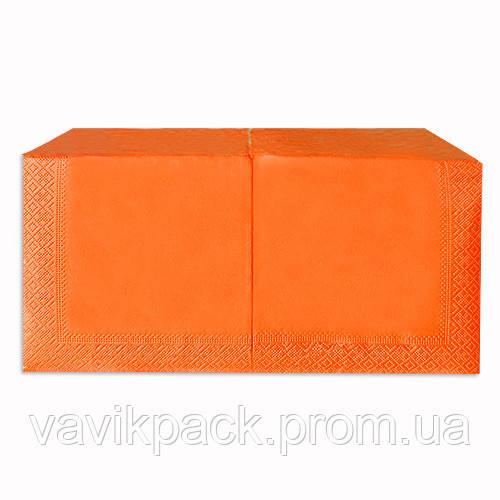 "Салфетка  ""Alsupak'  33 х 33 cм 200 шт (Апельсиновая) двухслойная"