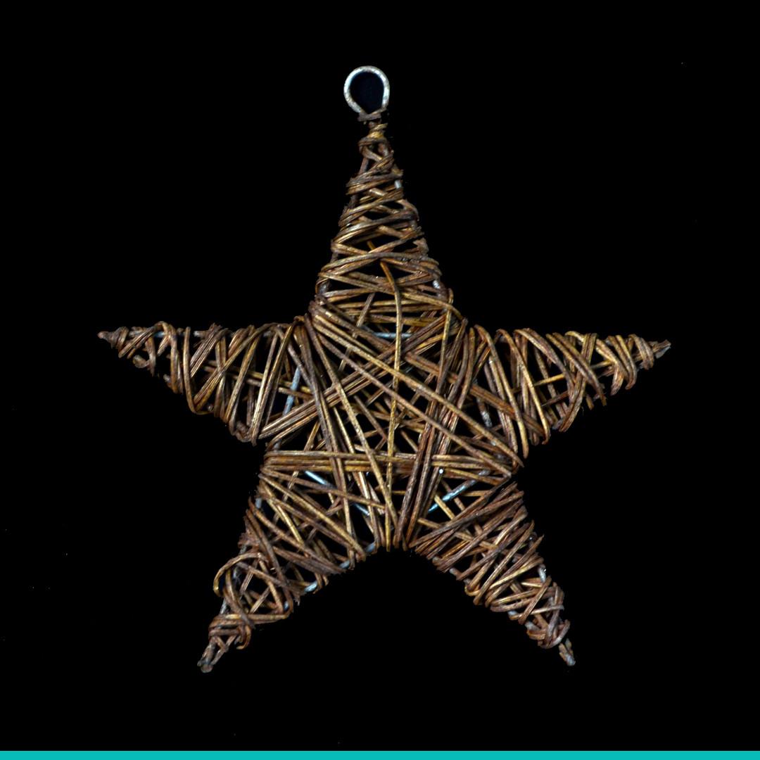 Звезда ротанговая коричневая (15 см)