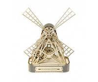 Механічний 3D-пазл Wooden.City Млин, конструктор для розвитку дітей