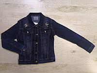Куртка джинсовая для девочек оптом, Seagull, 134-164 см,  № CSQ-89985