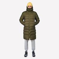 Зимняя куртка удлиненная подростковая, спортивная непромокаемая, утеплитель силикон, высокое горло, фото 1