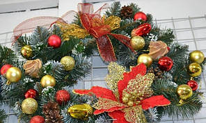 Різдвяний віночок з оформленням на  двері SV / GL