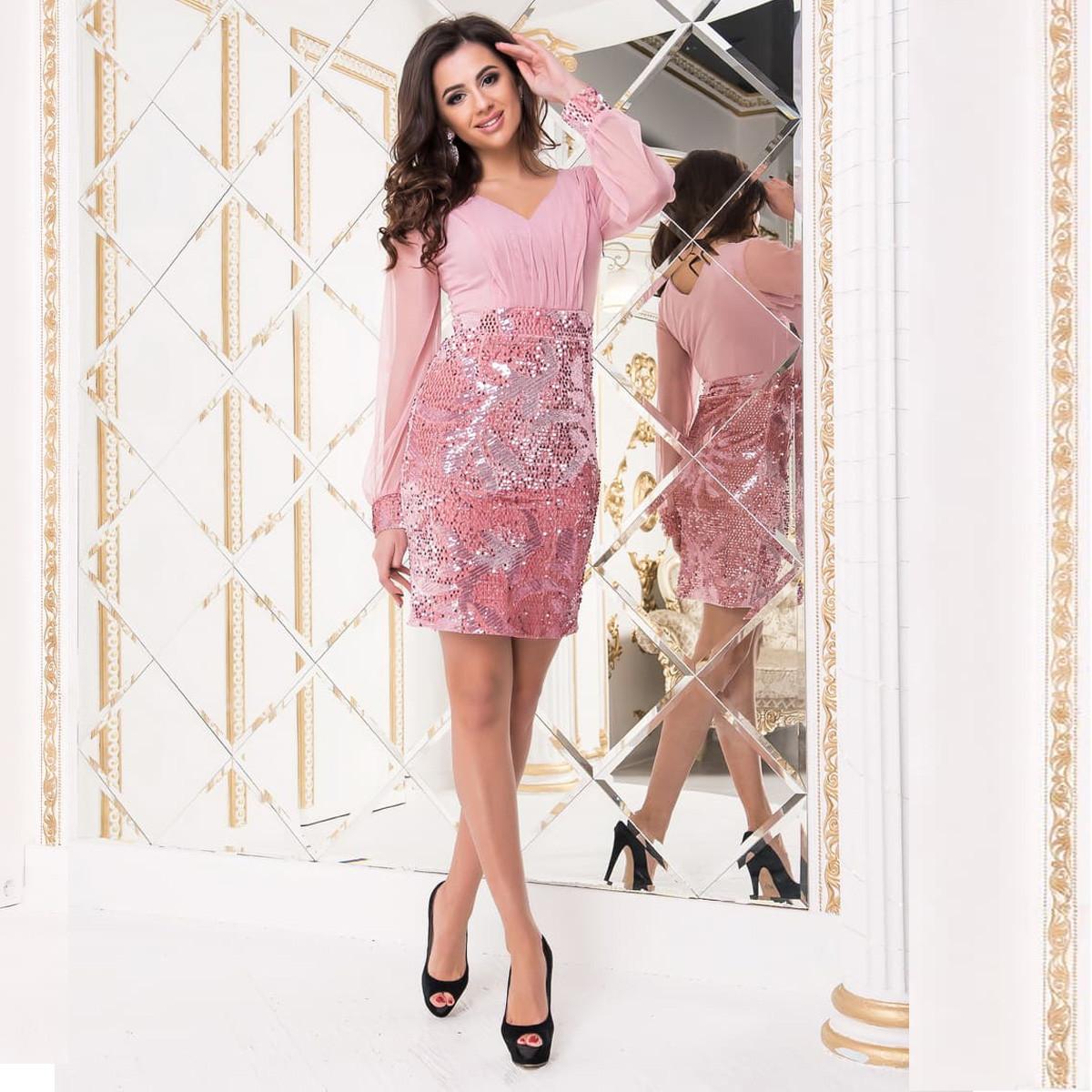 """Розовое вечернее нарядное платье """"Патрисия"""""""