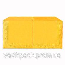 """Салфетка  """"Alsupak'  33 х 33 cм 200 шт (Жёлтая) двухслойная"""