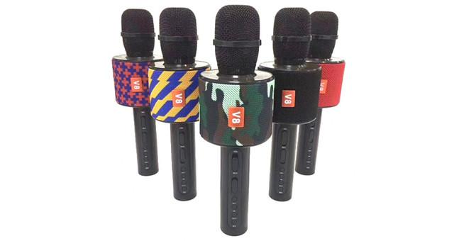Беспроводной Караоке Микрофон V8 в чехле