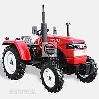 Трактор DW 244A  (2 цил. КПП (4+1)х2, пер./зад. груз, колеса 6,50х16/9,50х24, сиденье с аморт., компрессор)