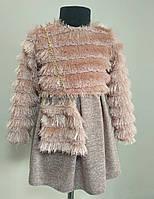 Комплект детское платье с кофточкой на девочку от 1-4 лет розовое, фото 1