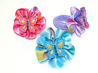Набор резинок, бабочка, разные цвета, диаметр резинки – 3 см(12 шт)